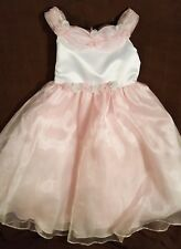 Girls Sophie Young Design Beautiful Pink White Fancy Party Dress Flowers Size 6