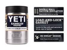 YETI Colster Rambler Cooler 12 oz Beer Insulator Stainless Steel Can Koozie 12oz