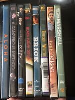 DVD Lot Of 8 DVDs Brick Aloha Eclipse Half Nelson Freedom Writers Dangerous Blac