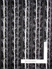 Tree Forest Night Trees Black Cotton Fabric Paintbrush Studio Night Owls - Yard