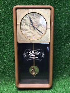 Vintage Miller High Life Pendulum Clock - Electric Rare Wall Bar Decor Advertis