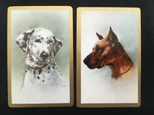 Vintage Swap / Playing Card Pair - Art - Giordano - Gorgeous Dogs - Dalmatian
