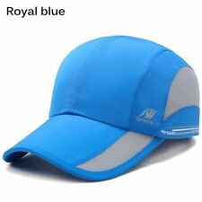 Men Women Outdoor Sport Baseball Mesh Hat Running Sun Visor Quick-drying Cap Royal Blue