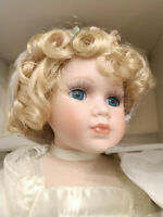 """COURT OF DOLLS ALLISON DOLL """"JENNY LEE"""" IN ORIGINAL BOX, COA STAND AND FLOWERS"""
