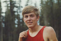 OLD PHOTO MEXICO OLYMPICS American Long Distance Runner Van Nelson