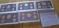 1984 1985 1986 1987 1988 U.S. Mint 5 Proof Sets San Francisco Mint