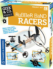 Thames & Kosmos Rubber Band Racers Science Project & Model Building Kit