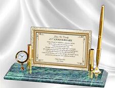 Wedding Anniversary Gift Clock Personalized Wife Husband Boyfriend Girlfriend