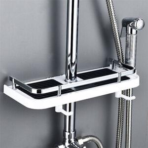 Shower Storage Holder Rack Bathroom Shelf Shampoo Tray Stand Floating Sh LT