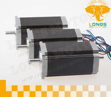 3pcs Nema23 Stepper Motor 28nm 42a 112mm 23hs9442b 4wires Dual Shaft Cnc Longs