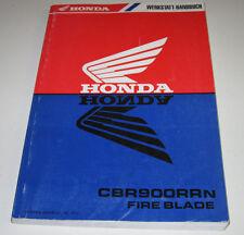 Werkstatthandbuch Honda CBR 900 RR Fire Blade Schmierung Motor Bremse Stand 1992