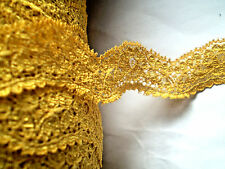 Spitzenborte Welle GOLD GELB 25mm Lace Dentelle Encaje Csipke кружева תחרה