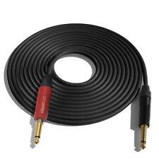 (ONE)25' Canare GS6 Guitar Cable w/Neutrik Silent Plug NP2X-AU ¼ - NP2X-B_BLACK