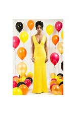 Polyester Tall V Neck Party Dresses for Women