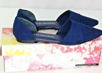 Chinese Laundry Easy Does It D'Orsay Flats Sz 8.5 Blue Suede Pointed Toe Shoes