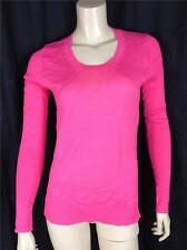 FAMOUS CATALOG 100% COTTON LIGHTWEIGHT SLIM FIT CREW NECK SWEATER HOT PINK SZ M
