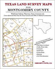 Montgomery County Texas Land Survey Maps Genealogy History