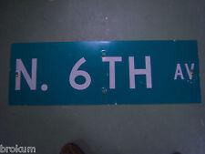 "Vintage ORIGINAL NARLOCH ST STREET SIGN 42/"" X 9/"" WHITE LETTERING ON GREEN"