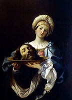Oil painting Salome Guido Reni - salome with the head of john the baptist canvas