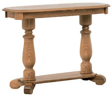 Superb #639 Solid Oak Country Pedestal Sofa Table