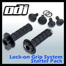 MX Motocross Grips ODI Lock-On Grip System Half -Waffle Pattern Soft Compound