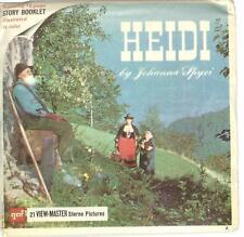 vintage GAF View Master HEIDI by JOHANNA SPYRI B425 reel set Swiss Alps Alpine !