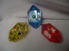 """Christmas Tree Ornament 3 Plastic Shadow Box Jewel Brite 3""""x1.75"""" Retro #1"""