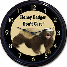Honey Badger Don't Care! Wall Clock Animal Man Cave New 10""