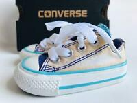 SCARPE CONVERSE ALL STAR 18EU 11CM 6/18 JEANS CANVAS INFANT NEONATO BABY NEWBORN