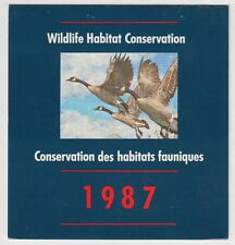 FWH3 1987 CANADA GEESE BY GEORGE McLEAN, FEDERAL WILDLIFE CONSERVATION & STAMP