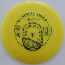 Used 8/10 Westside Vip-Air Destiny 160g (lightweight distance driver, yellow)