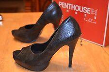 "PENTHOUSE Women's Black 5"" High Heel Shoes Size 9 Stilettos courtney SN0458 SEXY"
