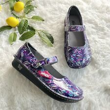 NEW Alegria Womens Size 40 Belle Multi Splash Mary Jane Comfort Clog Nurse Shoes