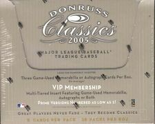 2005 Donruss Classics Baseball Factory Sealed Hobby Box - 3 Autos or Relics a bx