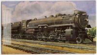 "Canadian Pacific ""464"" Locomotive Train Engine 1930s Trade Ad Card"