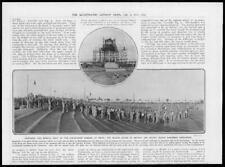 1911 Antique Print INDIA  Delhi Coronation Durbar Bandsmen British Indian  (137)