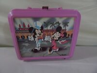 Vintage Mickey Mouse and Minnie Aladdin Pink Lunch Box Set *Made in USA*