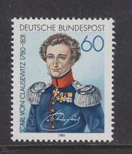 WEST GERMANY MNH STAMP DEUTSCHE BUNDESPOST 1981  CARL VON CLAUSEWITZ  SG 1979