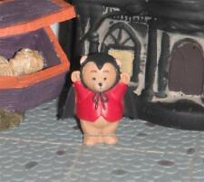 Hallmark Halloween Merry Miniatures Bear Dressed Up like a Dracula Bat Costume