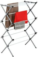 Metal Laundry Drying Rack Expandable Rustproof Steel Portable Dry Clothes Towel
