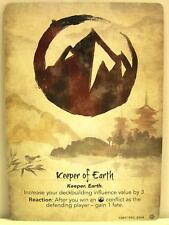 Legend of the five rings LCG - 1x #215 Keeper of Earth/Seeker of Earth-base