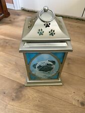 New listing Pug Lantern All Metal 11 Inches Tall New Never Used