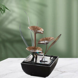 Indoor Fountain Tabletop Water Fountain Chinese Feng Shui Office Ornaments