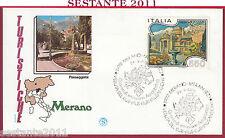 ITALIA FDC FILAGRANO TURISTICHE MERANO BZ PASSEGGIATA VEDUTA KURHAUS 1986 Y57