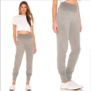 New Young Fabulous And Broke Womens Medium Olive Goove High Waist Sweatpants