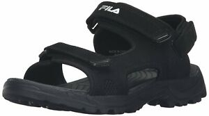 Fila Men's Transition Athletic Sandal Black / Black / Metalic Silver