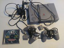 New listing Ps1 PlayStation 1 Original Video Game Console W/ 2 controllers Cords Game Shark