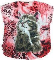 Cat 'Please' Begging Bling Tunic Short Sleeve Shirt Top NWT