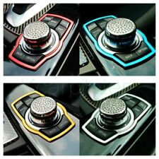 1Pcs Auto Luxury Multimedia Rotating Red Stainless Car Decoration Ring Button