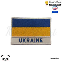 UKRAINE National Flag With Name Embroidered Iron On Sew On PatchBadge